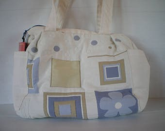 large diaper bag - to - book course - weekend - quilted fabric