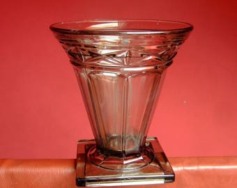 Art Deco smoked glass vase * 18 cm *.