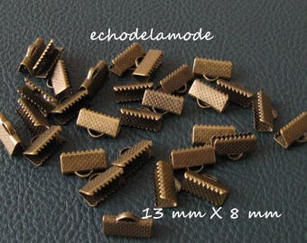 1 lot 30 caps clips claws for 13 mm X 8 mm bronze bias tape