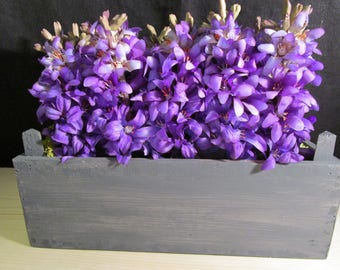 Arrangement of purple hyacinths