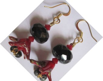 "Metal Gold ANTIALLERGIQUE ""Passionata"" earrings"