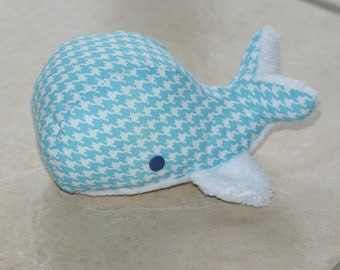 Velvet turquoise whale plushie