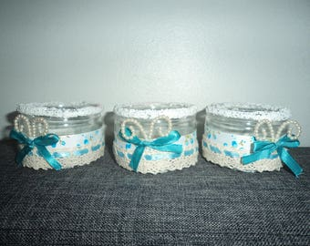 set of 3 candles on an air of romance, Valentines decoration idea