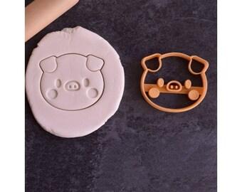 Cute pig cookie cutter