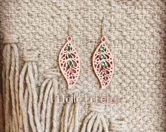 Leaf Baroque earrings