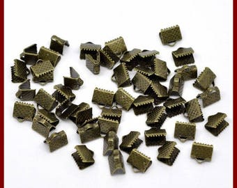 20 crimp bronze 8 mm for creations of jewels, accessories...