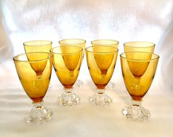 Mid-Century Anchor Hocking Berwick, 12-Bubble Footed, 4-Ounce Cordial Glasses.