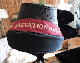 Ladies Vintage Salvation Army Hat -- Excellent Condition!