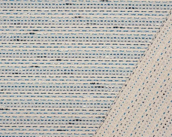 Reversible fabric beige and blue