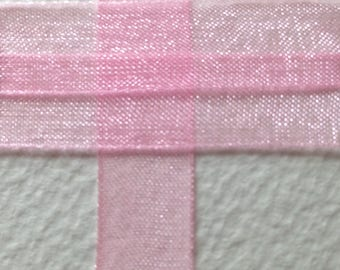 10mm pink organza Ribbon Spool 45 m