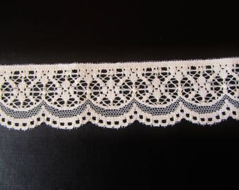 Ecru beige lace / wedding / coupon of 60 cm