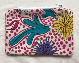 Funky Cactus Print Pouch