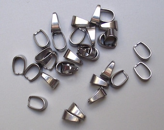 10 bails stainless metal Platinum color.