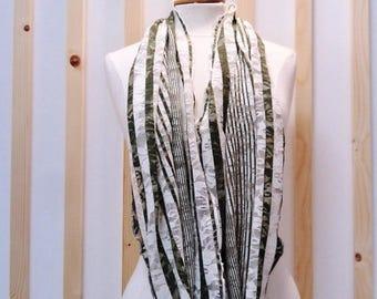 Scarf in khaki, Khaki scarf, Khaki scarf, scarf, tube, tubular scarf