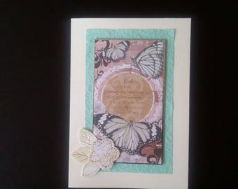 Large butterfly greeting card blank inside