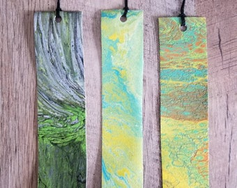 Abstract Bookmarks - Acrylic on Canvas