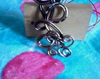 Brown Black Silver Pendant