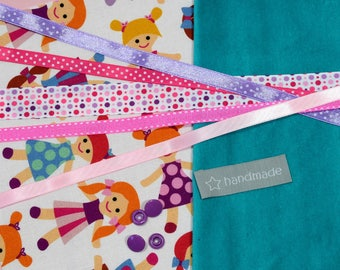"""KIT to sew """"taggy"""" birthday gift - DIY"""