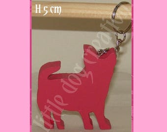 Wooden chihuahua key holder