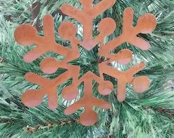 Metal snowflake CHRISTMAS ORNAMENT