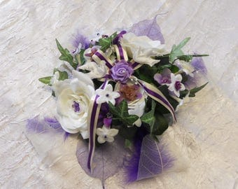 Centerpiece for wedding for guests or Eggplant head table