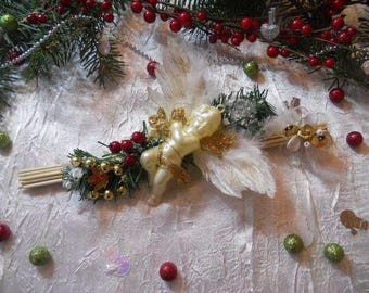 centerpiece Christmas Angel or mark up color blue/white