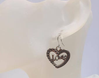 Earrings heart LOVE