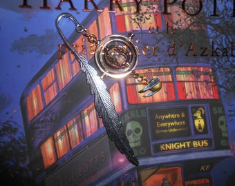 Bookmark inspired Harry Potter time Turner and Golden