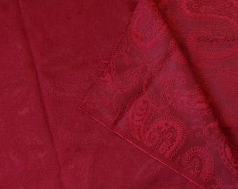 Coupon jacquard double sided red dark 0 Indian motifs, 52mx1, 48 m