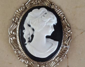 Large cabochon cameo 54 x 45 mm