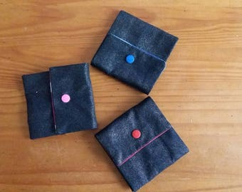 Wallet fabric origami way
