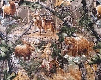 RealTree Camo with Moose, Elk,Deer,bear and Turkey