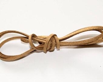 Glitter 3 mm beige suede cord