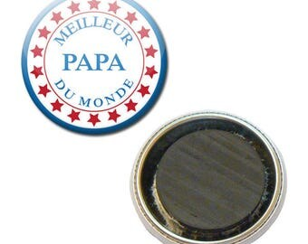 Best Dad in the world Ø 38 mm Pin Button magnet