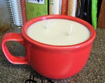 Red Mug Soy Coffee Candle