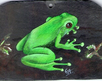 painting acrylic painting on Slate yorkshire pet