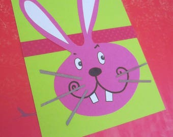 "Child theme ""pink Bunny"" card"