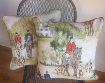 Horse and hound cushion