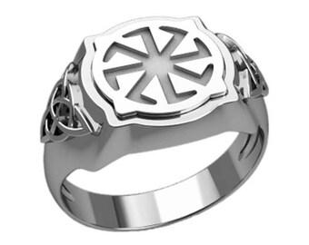 Colovrat Slavic Symbol Men Ring Silver 925 SKU30280