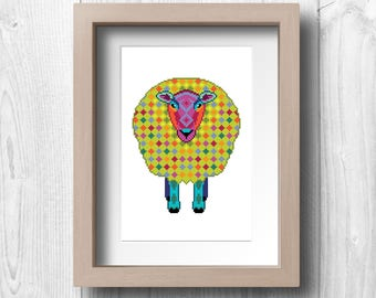 Pixel Sheep - Printable Wall Art
