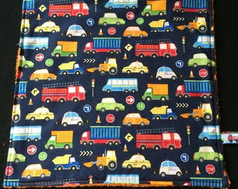 Napkin / taste for kindergarten - vehicles (cars, buses, trucks...)