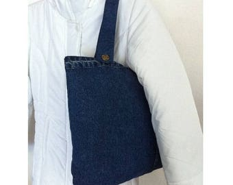 Hand bag with handles by BAGART jean bag jean buttons
