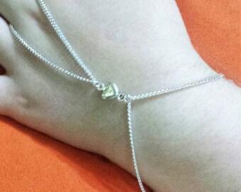 Slave bracelet silver heart