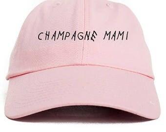 Champagne Mami Dad Hat Adjustable Baseball Cap New - Pink