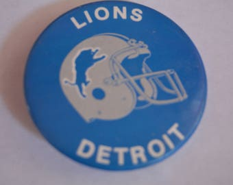 Vintage Detroit Lions Button Pin