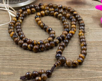 Tiger Eye 108 Bead Prayer Mala