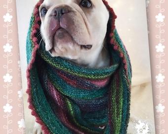 """HANDMADE striped eco wool silk shawl or BOHO scarf ("""""""")("""""""") opPAWtunity"""