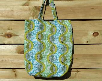 Green and blue tote bag tote bag