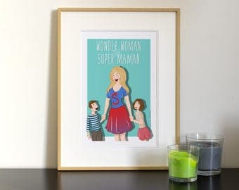 Personalized mother's day portrait