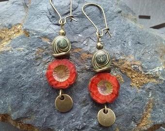 "Earrings ""Bohemian floral"""